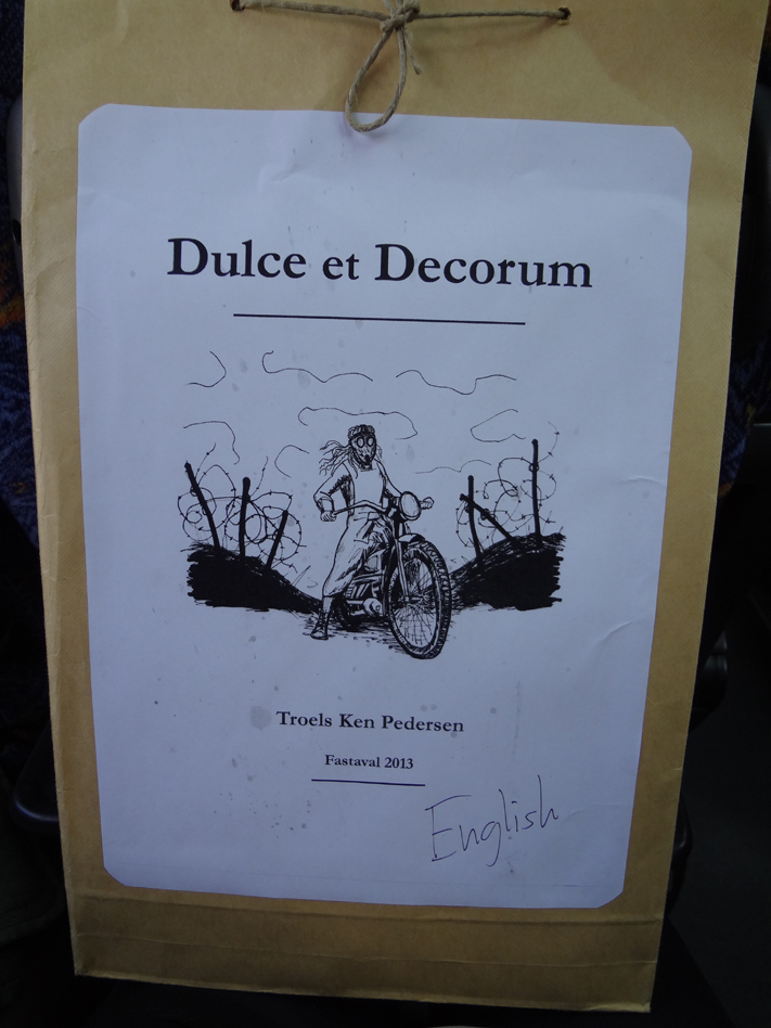 Dulce Et Decorum had lovely packaging.