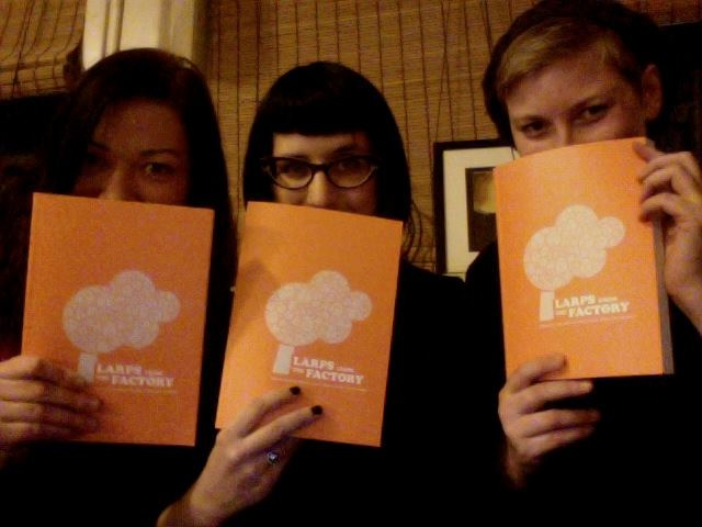 Editors (from left) Elin Nilsen, me, and Trine Lise Lindahl showcase our precious.